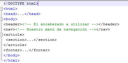 imagen sobre codigo de ejemplo html5